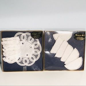 Other - Vintage Belgian Lace 1 Doily 12 Coasters 2Sets New